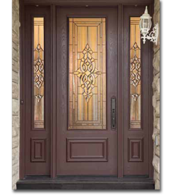 Wood grain fiberglass doors woodbridge front entry doors for Fiberglass entrance doors