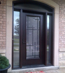 Front Entry Custom Entrance Fiberglass Exterior Doors Options